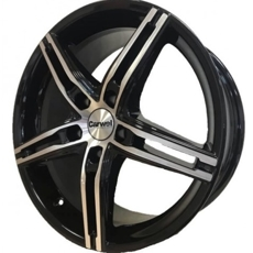 Диски Carwel Alpha Black Polished 5x112 ET-40 Ширина-7.0 Диаметр-17 Центр-57.1