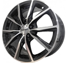Диски Carwel Gamma Black Polished 5x114.3 ET-45 Ширина-6.0 Диаметр-15 Центр-67.1