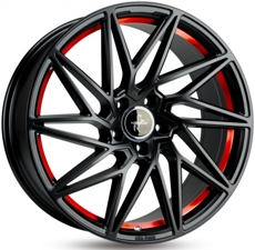 Диски  Keskin Tuning KT20 (max load: 690kg) MATT BLACK RED INSIDE 5x108 ET-45 Ширина-8.5 Диаметр-19 Центр-72.6